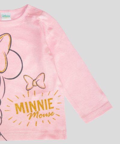 бебешка и детска Блуза Мини Маус в розов цвят