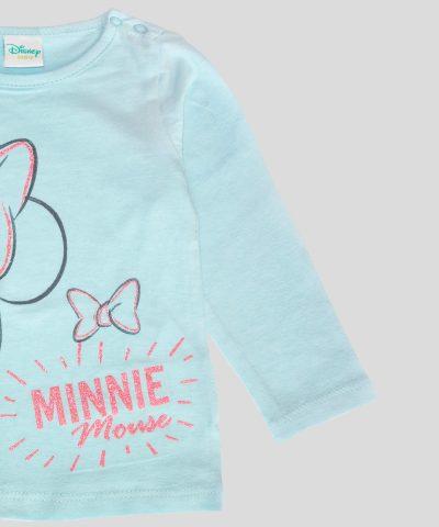 бебешка и детска Блуза Мини Маус в светлосин цвят