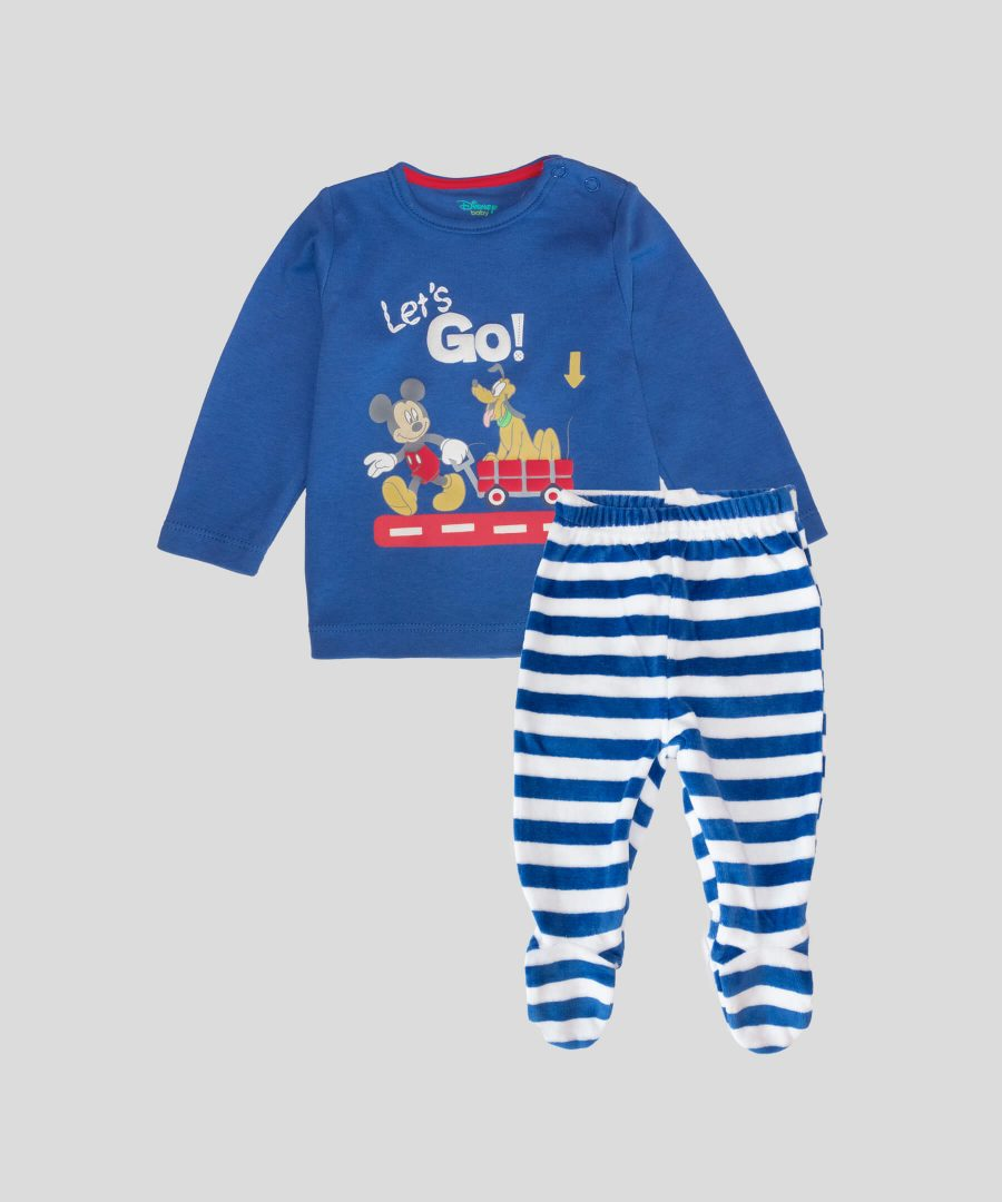 бебешки комплект let's go Мики Маус за момче
