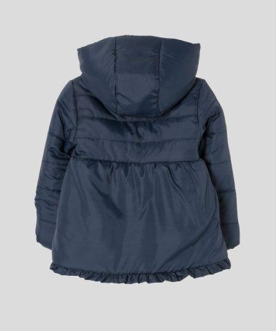 детско яке в тъмносин цвят с качулка за момиче