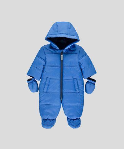 бебешки водоустойчив космонавт в син цвят за момче
