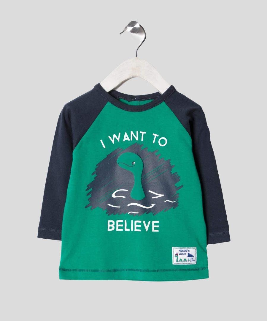 Бебешка и детска блуза I want to believe за момче