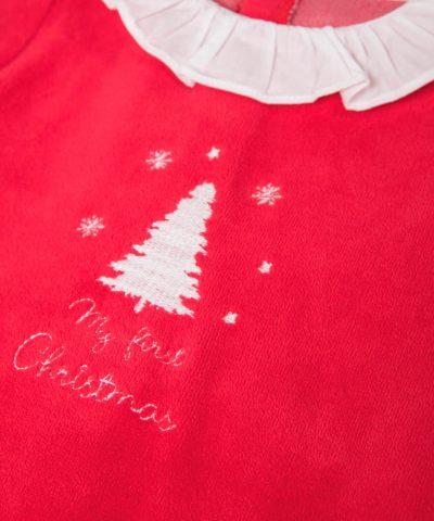 плюшен Коледен гащеризон