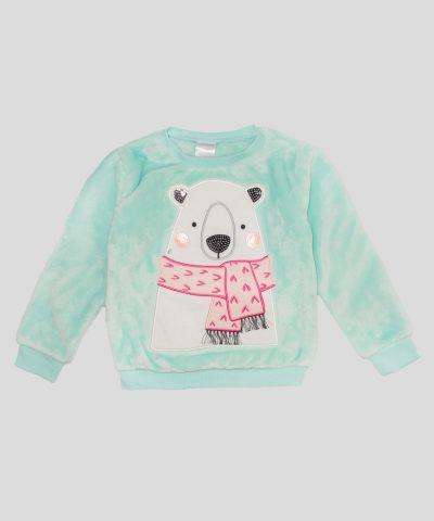 Детска термо блуза с мечка за момиче