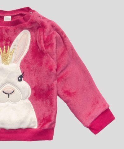 Бебешка термо блуза със зайче за момиче