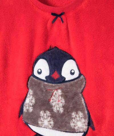 Бебешки и детски комплект от полар с пингвин