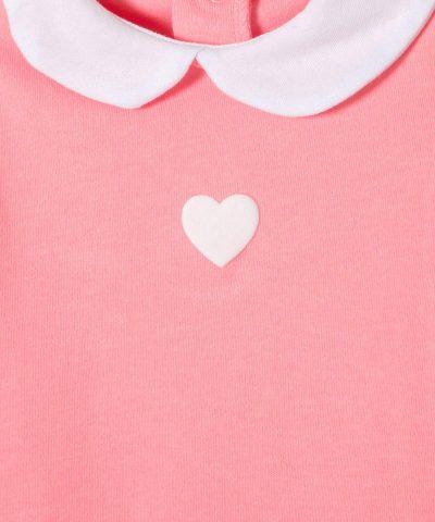 Бебешки комплект блуза и ританки Heart за момиче