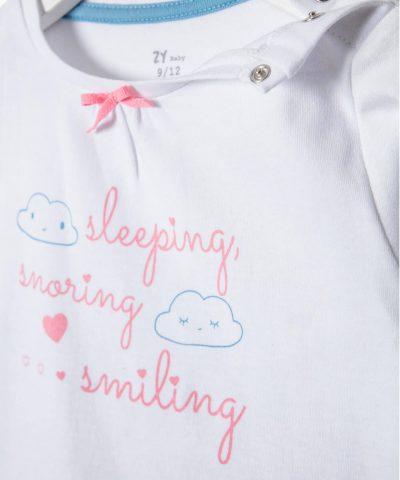 Бебешки комплект Sleeping & Smiling за момиче
