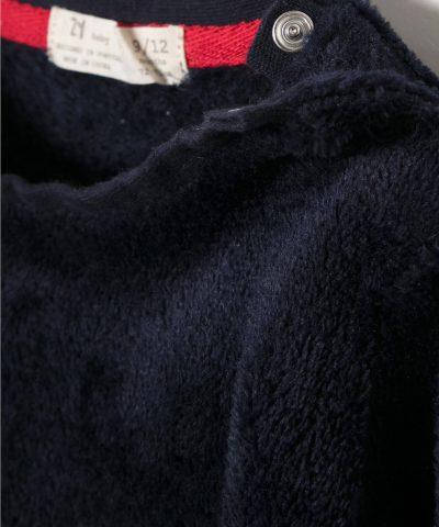 Бебешки комплект от полар с елен