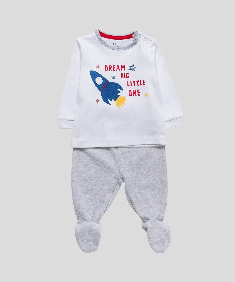 Бебешки комплект блуза и ританки Dream big little one за момче