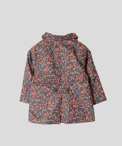 Бебешко тънко водоустойчиво манто с цветчета за момиче
