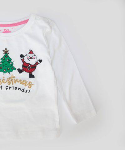 Бебешка и детска Коледна блуза