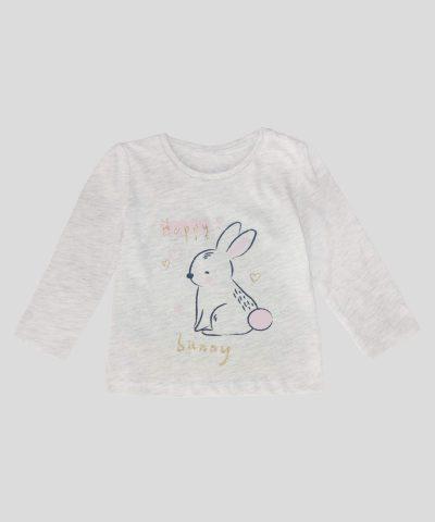 Бебешка и детска Блуза със зайче за момиче