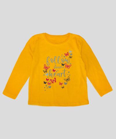 Детска Блуза follow your heart за момиче