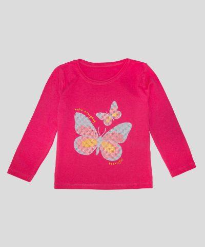 Детска Блуза с пеперуди за момиче