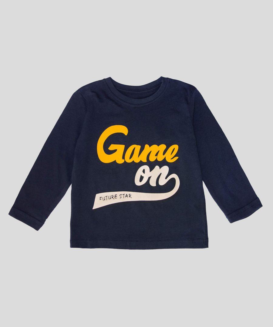 Детска памучна блуза Game On за момче