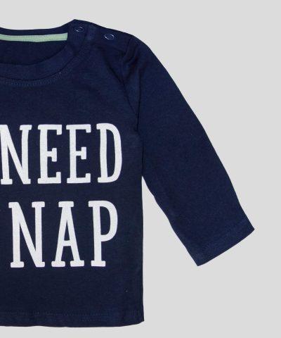 Бебешка и детска памучна Блуза #Need a nap за момче