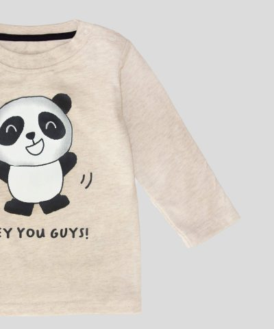 Бебешка блуза с панда за момче