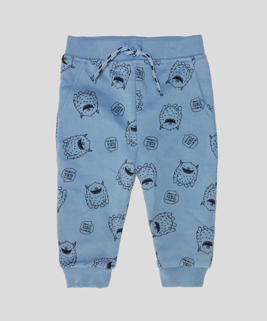 бебешки ватиран панталон с чудовища за момче