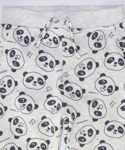 бебешки ватиран панталон с панди за момче