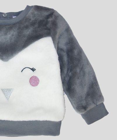 Бебешка и детска термо блуза с пингвинче