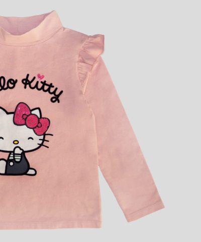 Детско поло Hello Kitty от био памук за момиче