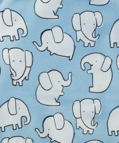 бебешко боди със слончета от био памук