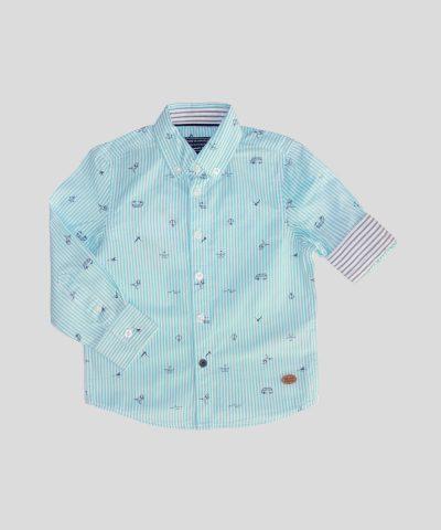 детска риза с морска тематика от био памук