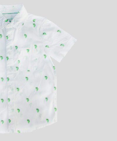 детска риза с кактуси и къс ръкав