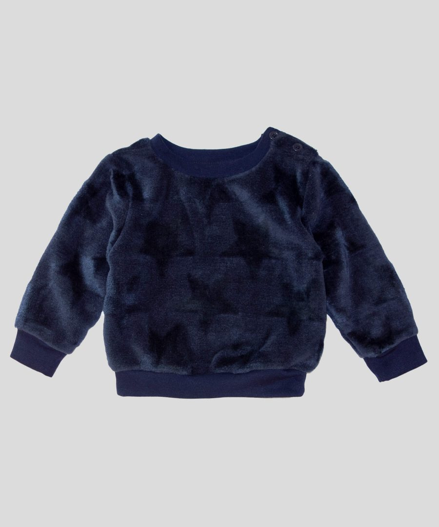 Бебешка термо блуза със звездички за момче