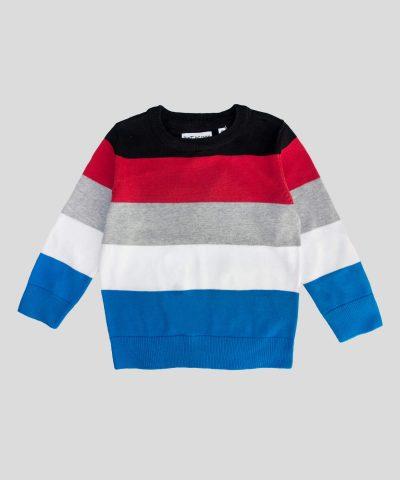 Детски пуловер райе за момче