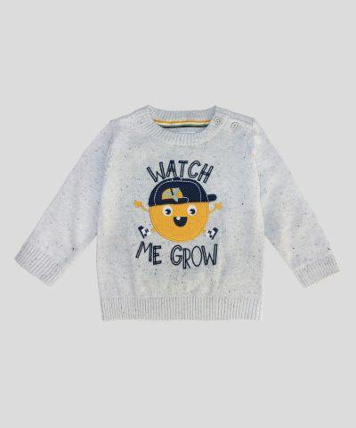 бебешки и детски пуловер watch me grow за момче