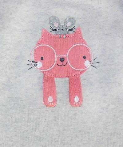 бебешки комплект с коте и мишле за момиче