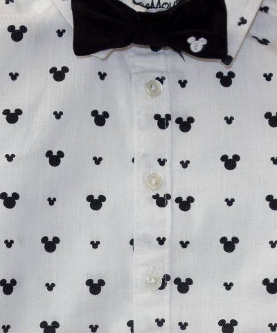 ленена детска риза мики маус в комплект с папионка