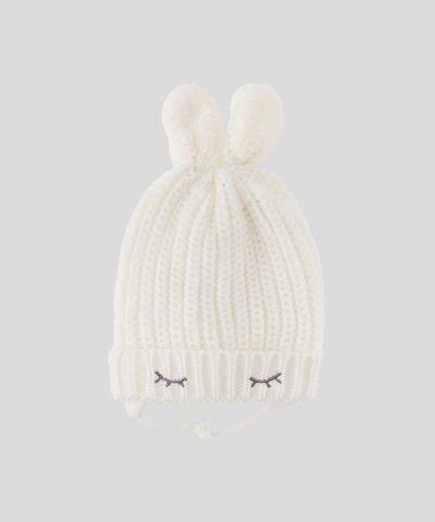 бебешка дебела зимна шапка зайче