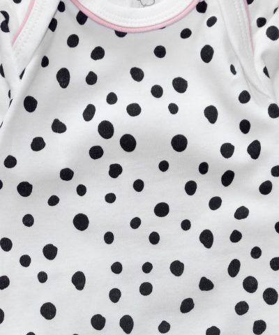 Боди от био памук за бебе момиче