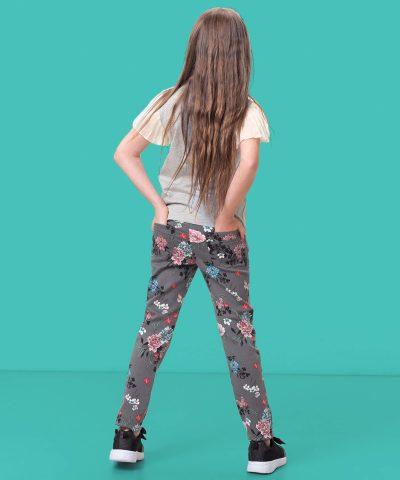 панталон с цветя за момиче