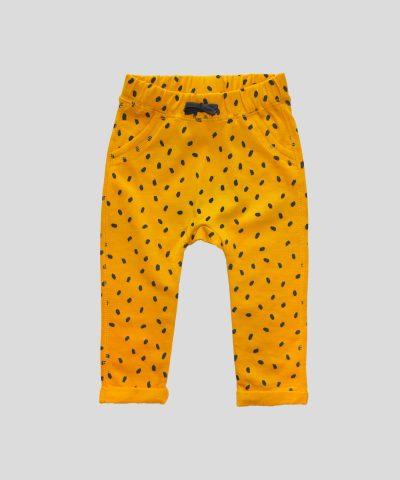 Панталон в цвят горчица от био памук