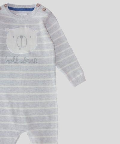 Бебешки плетен гащеризон от био памук