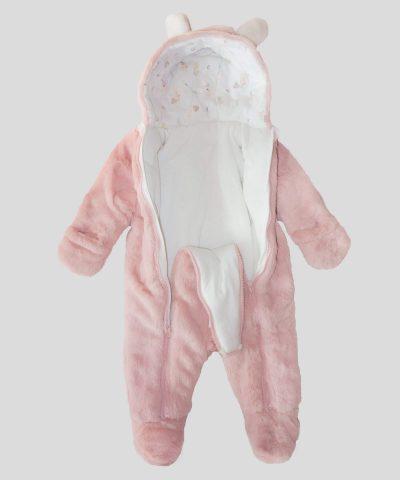 Бебешки пухен космонавт зайче в розов цвят