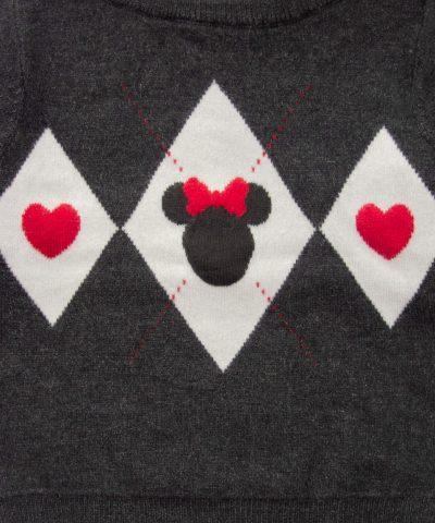 Пуловер Minnie Mouse за бебе момиче