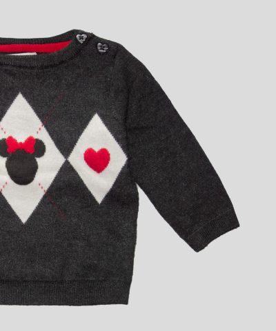 Бебешки пуловер с Мини Маус