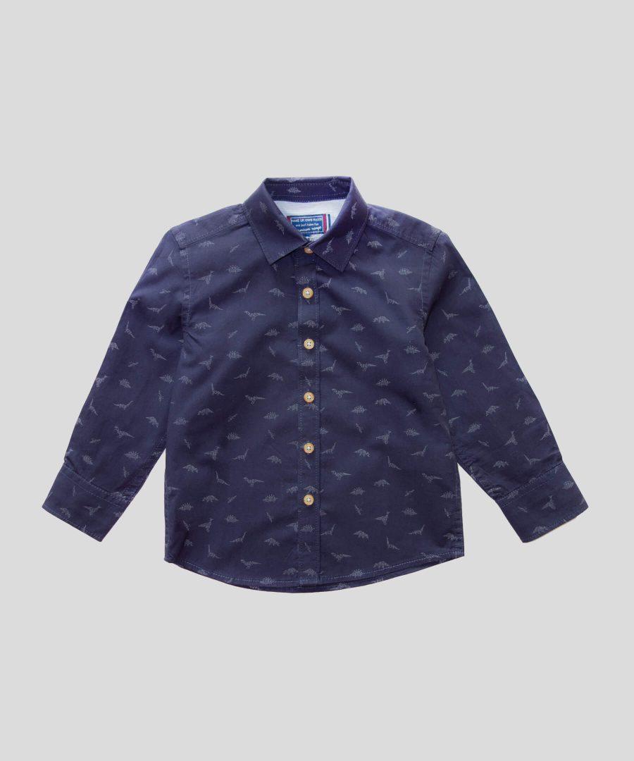 Риза с динозаври от био памук