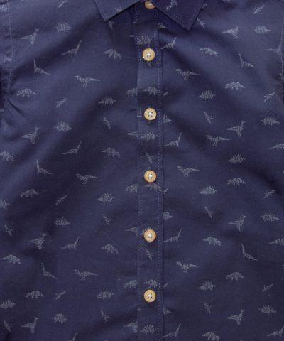 Детска риза в тъмносин цвят от био памук