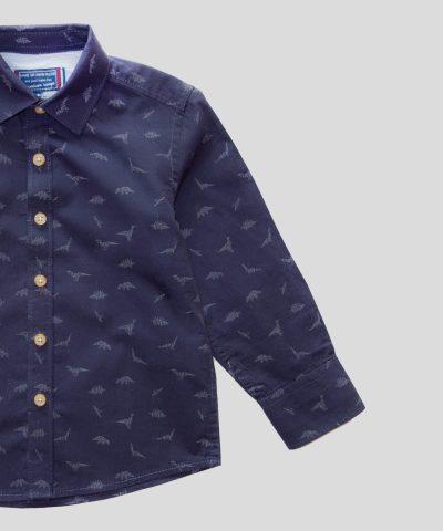 Детска риза с динозаври от био памук