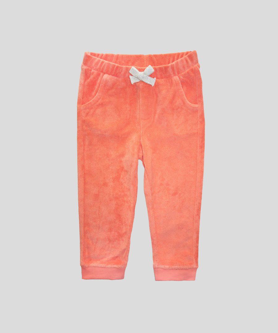Спортен панталон в цвят корал