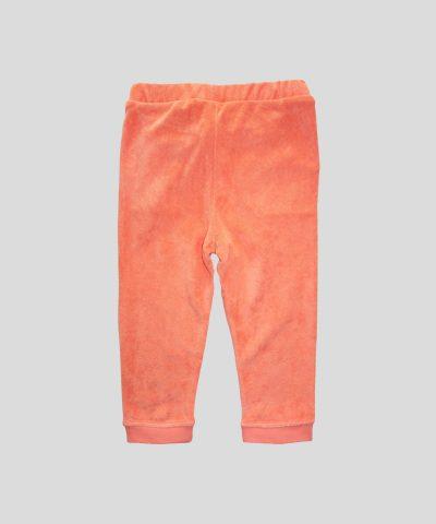 Бебешки панталон в цвят корал