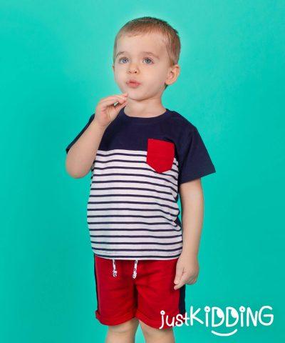 бебешки и детски Комплект тениска и къси панталонки