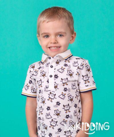 бебешка и детска тениска с яка с духчета