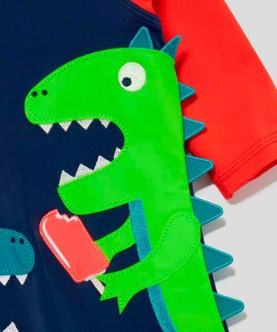 Цял бански с динозаври за момче